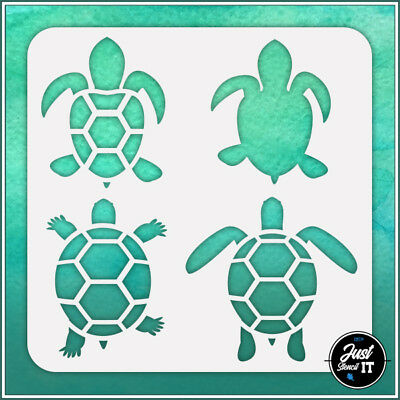 Turtles #1 durable and reusable stencil for DIY painting /& crafts