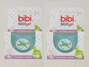 2x Bibi Swiss Soother Dummy Frog /& Bird Dummy Pacifier Soother 6-16 months BPA