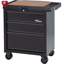 Husky 27 in 4 Drawer Rolling Tool Cabinet Black Storage Toolbox ...