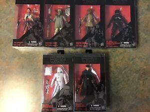 Hasbro-Star-Wars-Black-Series-Set-2-Poe-Zuvio-Soldier-Pilot-Snowtrooper-Hux