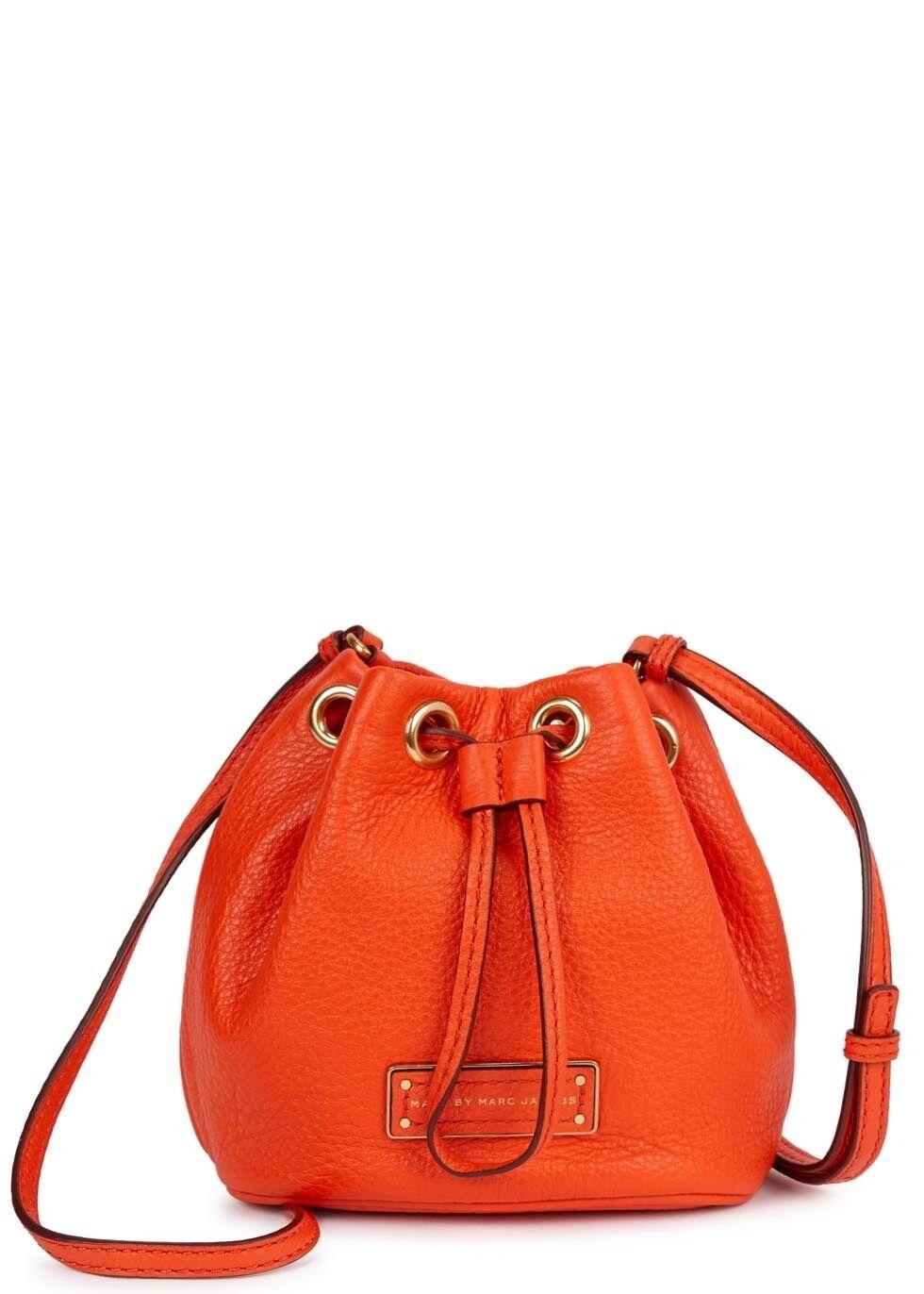 Marc by Marc Jacobs Too Hot To Handle Mini Mini Mini Drawstring Bag Tasche Orange NEU   | Vorzugspreis  | Optimaler Preis  | Verpackungsvielfalt  b6e237