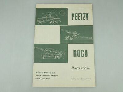 Verantwortlich Peetzy Roco Supermodelle H0 9mm 1968 Katalog 20 S. Prospekt Minitanks 109587