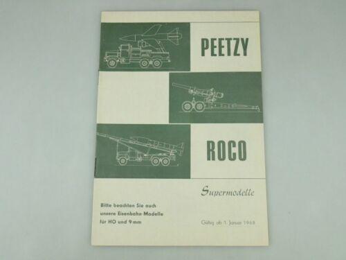 Peetzy Roco Supermodelle H0 9mm 1968 Katalog 20 S Prospekt Minitanks 109587