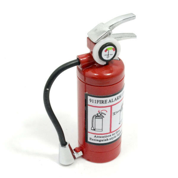 Fire Extinguisher Shaped Refillable Butane Gas Cigarette Flame Lighter with Led