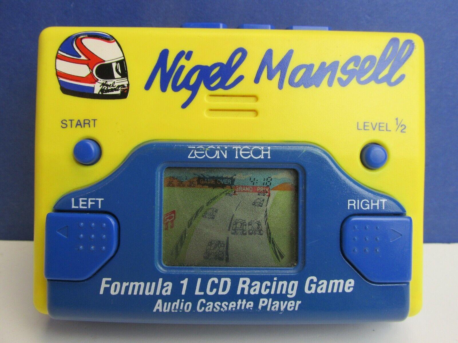 Rara Vintage Nigel Mansell LCD Video Juego & Cinta Cassette Zeon Tech fórmula 1