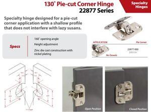 Strong Zinc Die Cast with Nickel Plating 2 Pack Pie Cut Corner Hinge