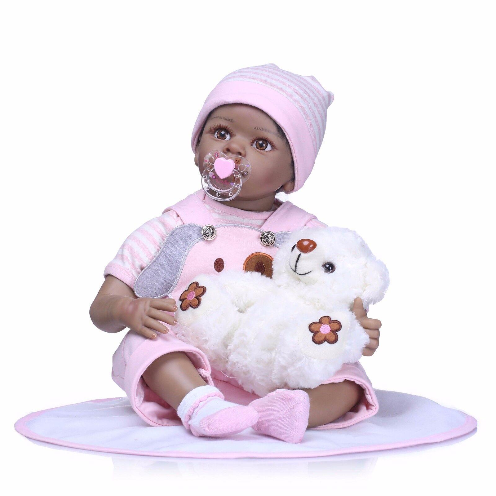 22  RINATO Baby Girl Doll Nero afroamericano etnico 'NEONATO REGALO