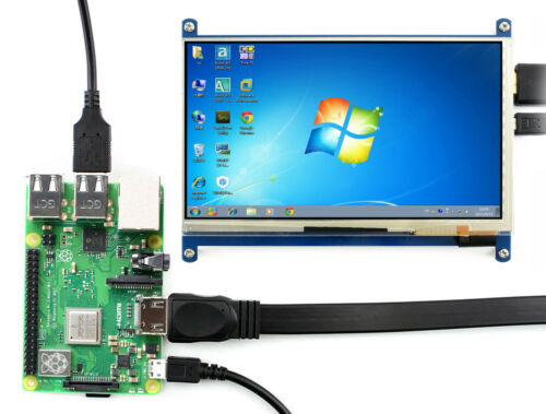 WS 7inch Capacitive Touch Screen LCD 1024×600 HDMI display IPS for Raspberry Pi