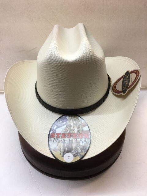 STETSON EVILLA DE ORO 1000X SHANTUNG PANAMA STRAW COWBOY WESTERN HAT