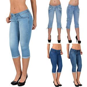 Donna-Capri-Pantaloni-Caprihose-Jeans-Capri-Jeans-Bermuda-Jeans-Pantaloni-FINO-MISURE-GRANDI-h11