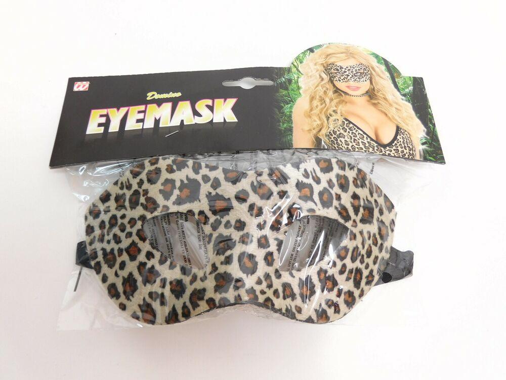 Charmant Widmann * Eyemask * Köstum, Le Carnaval-tigerlook Nouveau & Neuf Dans Sa Boîte Prix Raisonnable