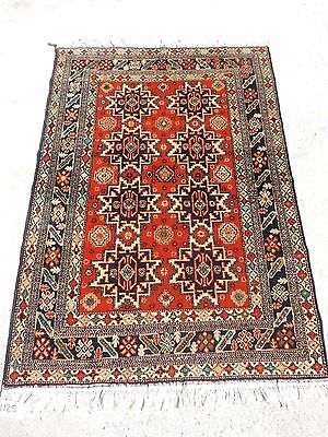 4x6ft Antiques Turkish Leski Star Caucasian Wool Rug Preventing Hairs From Graying And Helpful To Retain Complexion