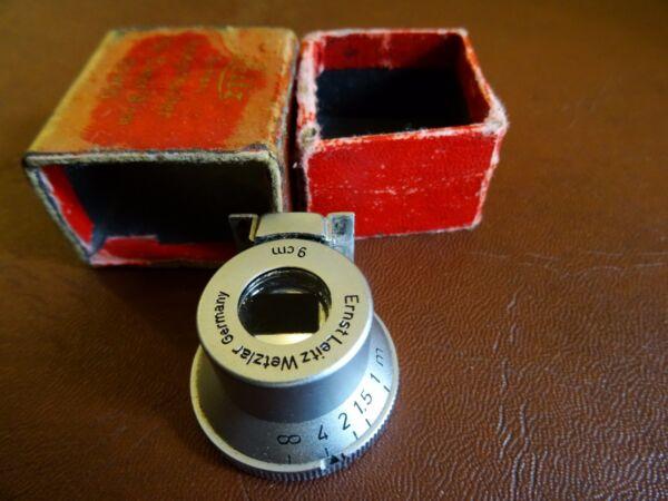 """Ernst Leitz Leica """"sgvoo' 9 Cm 90 Mm Viseur Avec Boîte D'origine. Spiegelsucher"""