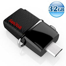 SANDISK OTG ULTRA DUAL USB3.0 32GB 32G Flash Drive Memory For Android 130MB/s*