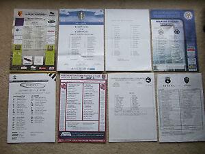 media press team sheet leicester v wolves 10204 - Benfleet, United Kingdom - media press team sheet leicester v wolves 10204 - Benfleet, United Kingdom