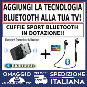 Trasmettitore Ricevitore Bluetooth AUX  Smart TV  + Auricolari Bluetooth 🇮🇹