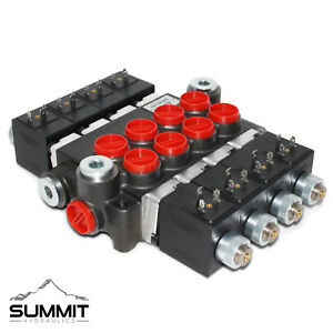 Details about Hydraulic Monoblock Solenoid Directional Control Valve, 4  Spool, 13 GPM, 12V DC