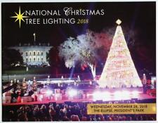 2018 White House Christmas Holidays Tour Book Program Donald Melania Trump POTUS