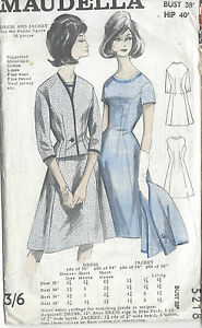 1960s-Vintage-Sewing-Pattern-B38-DRESS-amp-JACKET-R664