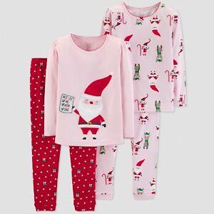 31285e8005cd 18 Month Santa Elf 4 Pc Sleepwear Set Holiday Girls Clothing 100 ...