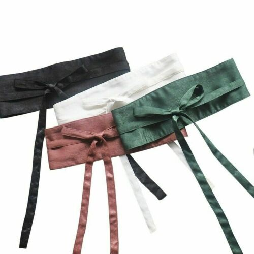 Women Satin Belt Japanese Kimono Obi Wide Waistband Yukata Strap Faux Silk