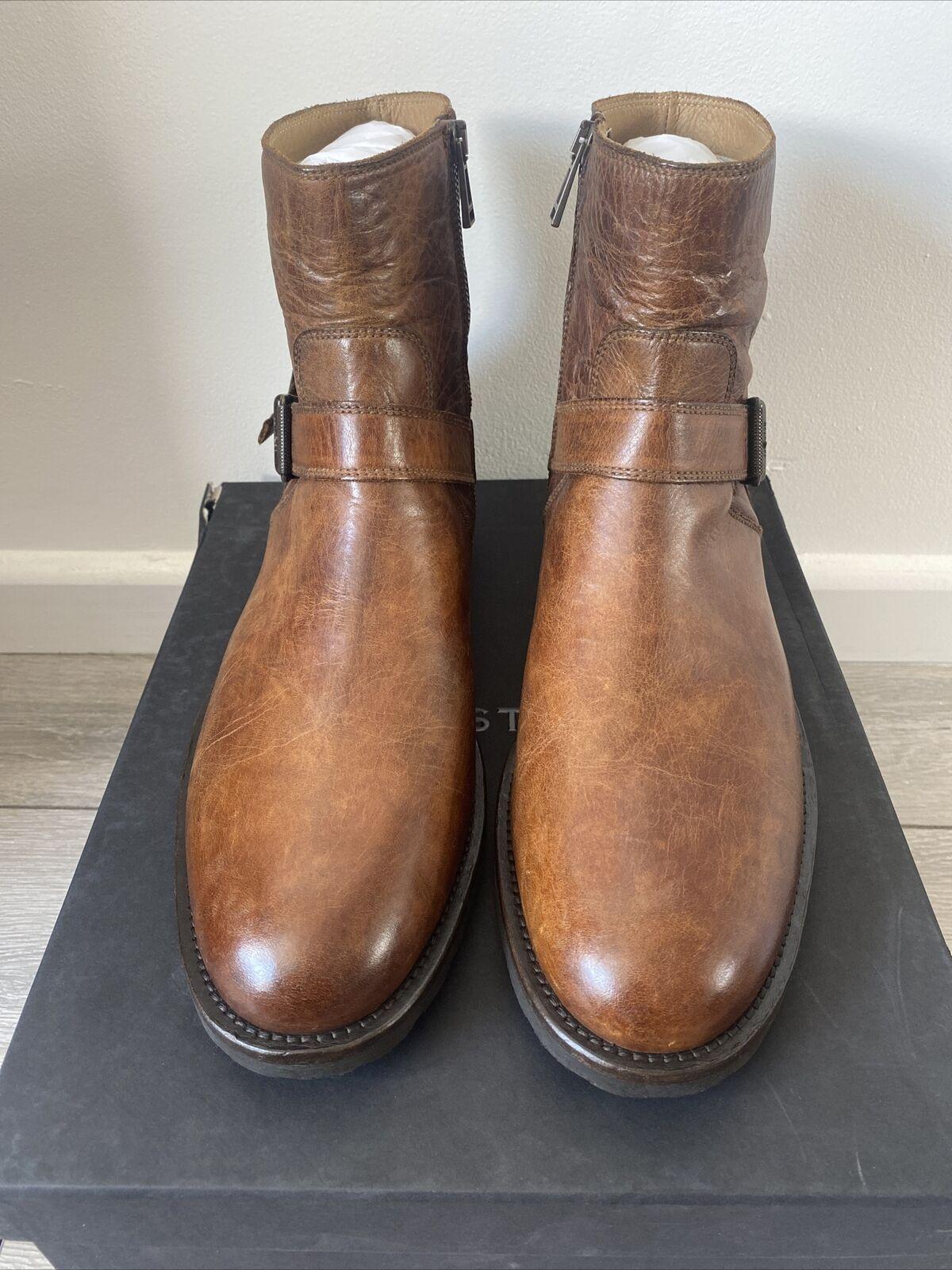 Belstaff Mens Trialmaster Short Boots Size 9.5 UK Or 43.5 EU In Cognac