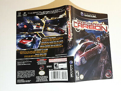 Need For Speed Carbon Gamecube Replacement Cover Art Insert Only