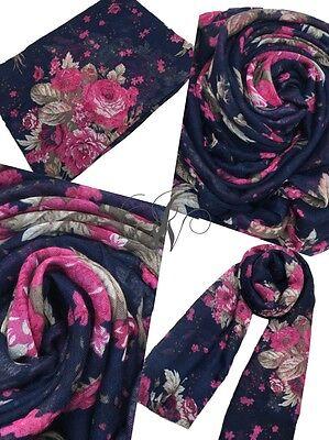 hijab//scarf ladies maxi beautiful ombre floral design