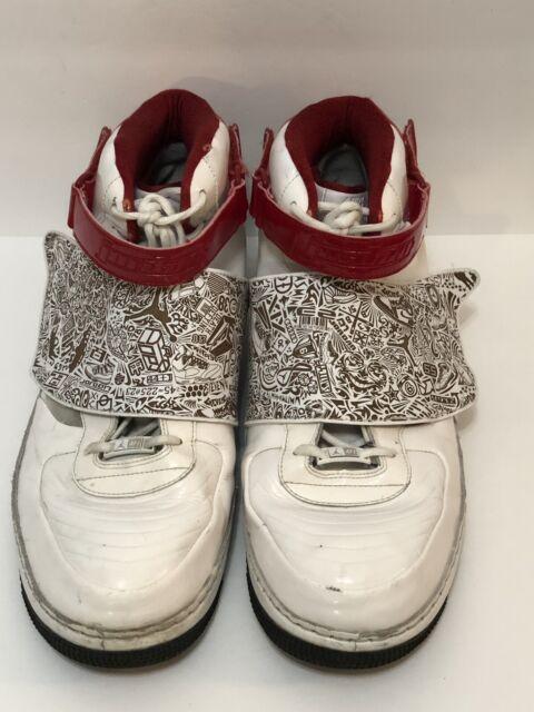 new style 4bea9 5169b Men s Sz 17 Nike Air Jordan Fusion AJF 20 Basketball 331823-101 White Red  Black