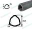 Zapfwelle Gelenkwelle L=1200 Dreieckrohr 1 3//8 Z=6 Zahn bis 75 PS Weitwinkel 80°