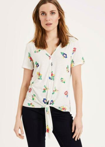 Phase Eight Cayla Floral à manches courtes Top Ivoire//Multicolore Taille UK18 RRP49