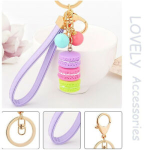 Women-Bag-Key-Chain-Ring-Macaron-Cake-Key-Holder-Charm-Handbag-Girls-039-Favor-Gift