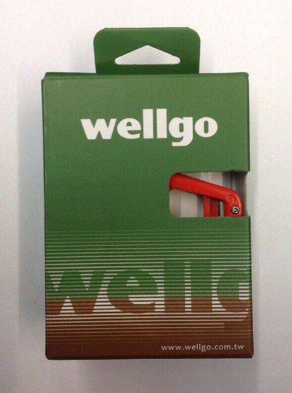 Flat Fahrrad Pedals Wellgo MG1 Magnesium Platform 9 16  Sealed Bearings MTB Orange