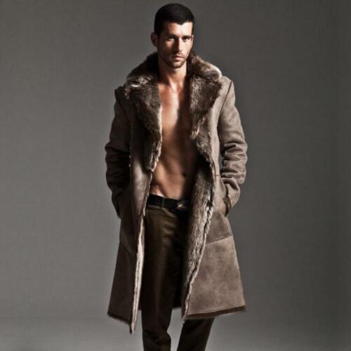 7XL Men/'s Lapel Fur Double-sided Parka Cardigan Loose Windbreaker Jacket Sbox4