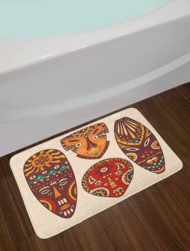 East Urban Home Mask Multicolor Tiki Bar Bath Rug