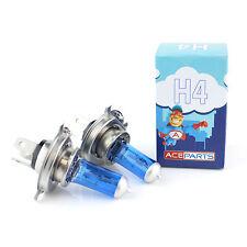 2x H4 472 P43T 60 55w ICE Blue Xenon Headlight Bulbs 12v