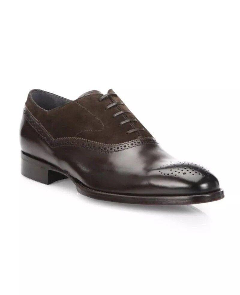 Per  avvio New York Sterling Marronee Leather &SV Brogue Oxfords Dimensione 8.5  495.00  per poco costoso