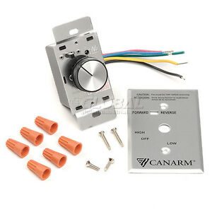 Canarm Variable Speed Switch Control 4 Fans Reversible