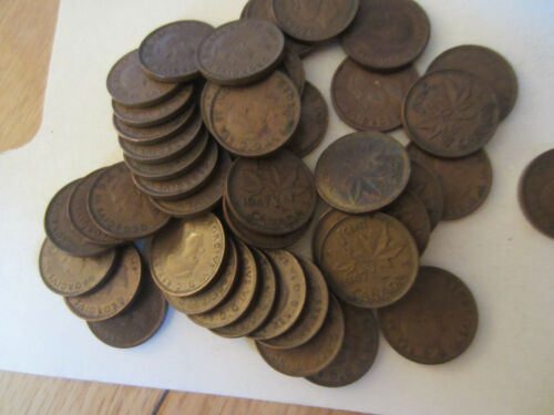 50 Coins SEMI KEY Roll of 1947 Canada Small Cents