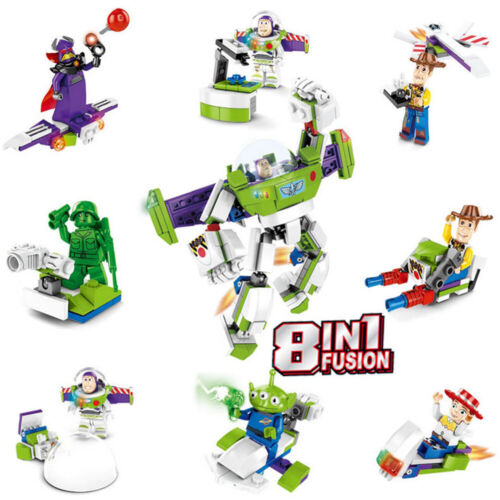 8 in 1 Toy Story 4 Woody Buzz Lightyear Mini figure Building Blocks Toys Gift UK