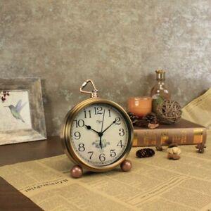 Small Antique Clock Vintage Desk Arabic Mini Silent Non Ticking Battery Quartz 880936289355 Ebay