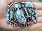 Support HELLS ANGELS Belt Buckle MC Motorcycle CLUB Chopper BIG RED RARE MINT