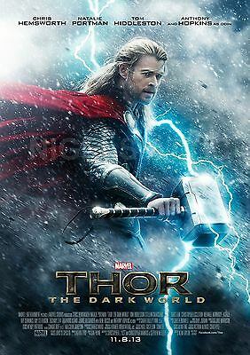 THOR  the DARK WORLD  movie teaser  A3 PRINTED PROMO POSTER