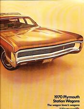 1970 Plymouth Fury and Satellite Station Wagon 16-page Sales Brochure Catalog