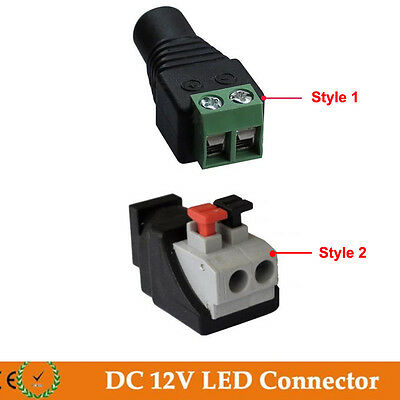 10/20/50/100pcs Male/Female DC Power Plug Jack Adapter Connector For LED Strip