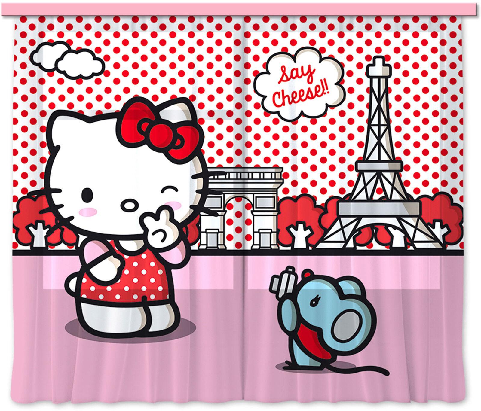Hello Kitty  Kinder Foto Vorhang Gardine 180x160cm