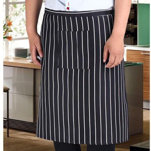 Unisex Apron with Pocket Half-length Long Waist Butcher Waiter Chef Uniform