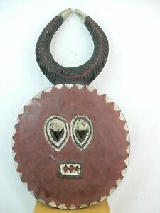 Goli Maske Afrika Elfenbeinküste Kple-Kple Holzmaske Büffel-Gott der Baule Namye
