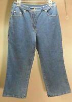 Denim & Co. Qvc Style Crosstretch Women's Blue Capri Jeans Size: 10