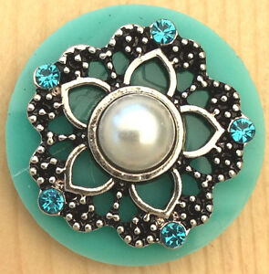 #Snap.Chunk Button Silver With Red Sets Charm For Ginger Snap Style Jewelry